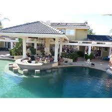 backyard pool bar. Backyard, Outdoor Kitchen, Pool, \u0026 In Pool Bar Seating Backyard