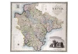1826 Map Of Devon by C.J Greenwood | I Love Maps