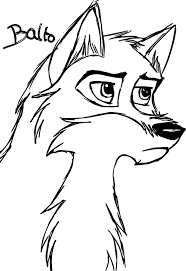 Small Picture Sketch De Balto Wolf Coloring Page Wecoloringpage