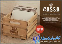 gpo cassa wooden vinyl record lp storage crate available from nice stuff