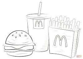 Mcdonalds Food Coloring Page Free Printable Coloring Pages