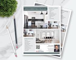Flyer Template For Pages Real Estate Flyer Template 2 Versions 3 4 Photos