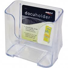 deflecto docuholder countertop display rack single pocket 1 3 of a4 clear literature display racks furniture office accessories office supplies