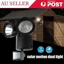 Best Outdoor Sensor Lights Australia 22 Led Solar Powered Dual Light Flood Lamp Security Garage Motion Sensor Outdoor