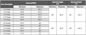door opening size