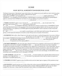 Basic House Lease And Rental Agreement Template Document Sample More ...