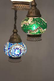 turkish moroccan mosaic chandelier 5 piece spiral green globe