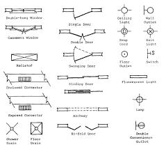 floor plan symbols door. Delighful Floor Floor Plan Symbols For Doors Windows And Electrical On Plan Symbols Door L