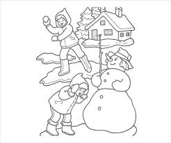 Also check out our other holiday coloring pages with a variety of drawings to print and paint. 9 Winter Coloring Pages Free Pdf Jpg Format Download Free Premium Templates