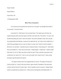write a descriptive essay about an event