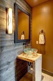 Bathroom  Mediterranean Style Bathroom With Orange Wall Color - Mediterranean style bathrooms