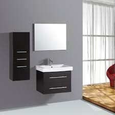 bathroom side cabinets. Bathroom. Black Bathroom Vanity Cabinet With Double Drawer And Rectangle Sink Also Mirror Plus Side As Well Small Wall Cabinets S