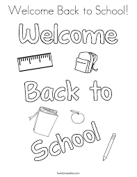 Small Picture Welcome Back to School Coloring Page Twisty Noodle