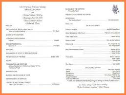 sample wedding program wording 6 sample wedding programs leave latter