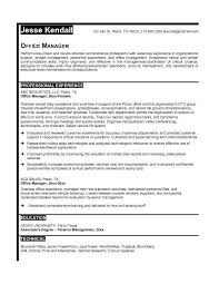 ... Sample Resume For Office Manager Position 6 JK Examples Of Job ...