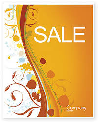 word theme download autumn theme sale poster template in microsoft word publisher and