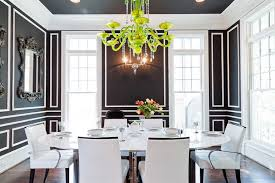 funky dining room lights for black and white dining room color schemes with large oval table