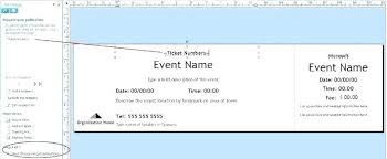 Create Tickets In Word Create Ticket Template