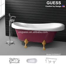 Hot Sale Classical Bathtub/ Red Dejin Feet Acrylic Tub Q-e500027 - Buy  Bathtub Product on Alibaba.com