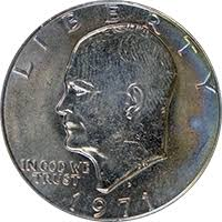 1971 D Eisenhower Dollar Value Cointrackers