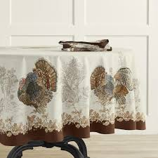 plymouth turkey round tablecloth 90