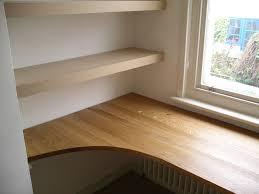 custom made desk for home study in oak