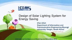 Solar Lighting System Design Design Of Solar Lighting System For Energy Saving Ppt