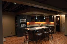 exposed basement ceiling lighting ideas. schubbe basement remodel traditional-basement exposed ceiling lighting ideas