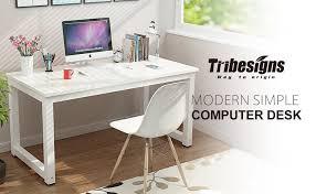 large white office desk. Tribesigns 55\ Large White Office Desk R