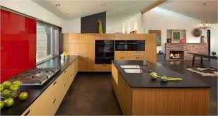 image of bamboo kitchen cabinets sets with island