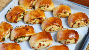 Baked Ham And Cheese Rolls Recipe Youtube
