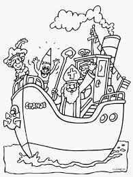 Kleurplaat Sinterklaas Stoomboot Portret Kleurplaat Boot Ge