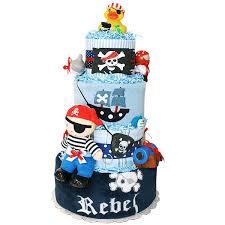 Rebel Pirate Diaper Cake 18300 Diaper Cakes Mall Unique Baby
