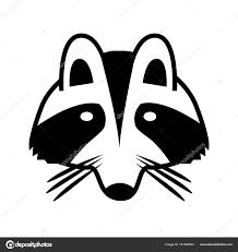 логотип енот лица изолированы векторное изображение векторное