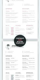 Creative Resume Templates Word Professional Resume Design Templates