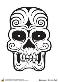 Coloriage Tatouage La T Te De Mort