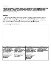 Anti Bullying Lesson For English Language Arts Grades 7 12