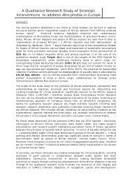It is an important fact which the researcher discovers during research or survey. Doc Summary Of The Research Design Empirical Findings Of My Doctoral Thesis Ade Olaiya M A And H B A Olaiya M A Academia Edu