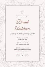 Funeral Invitation Template Impressive Simple Funeral Invitation Template X Pic Photo Funeral Invitation