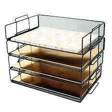 desk paper tray.  Desk Blu Monaco Desk Organizers And Accessories Stackable Paper Tray  4 Tier  Letter Trays Throughout T