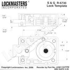 Sg Template Lockmasters S G 6730 Magnetic Drill Template Lkm1105tpm