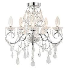 vela ip44 rated bathroom chandelier spa 19713 chr