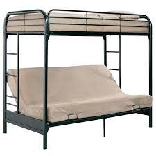 metal bunk bed futon. Black Loft Bed With Futon Metal Bunk Design .