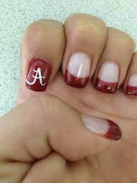 Alabama Nail Art Designs Roll Tide Nails Alabama Nails Football Nail Designs