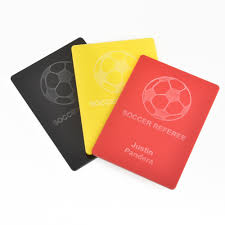 Referee Design Soccer Referee Card Pack Personalized Set Of Yellow Red