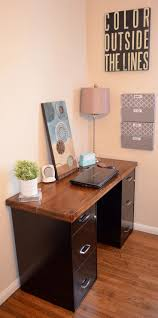 desk in office. Desk W File Cabinets Love How This Clutter Free Anally Clean Person Has In Office O