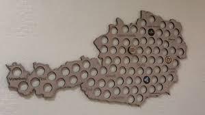 <b>Копилка для пивных крышек</b> карта Австрии CAPSBOARD Austria ...