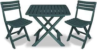 vidaXL 3 Piece Folding Bistro Set Balcony Set Patio ... - Amazon.com