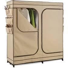 honey can do 60 2 door closet storage with shoe storage khaki brown com