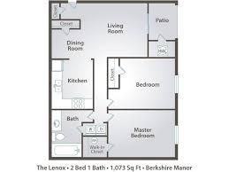 Gallery Exquisite 2 Bedroom Floor Plans 2 Bedroom Apartment Floor Plans  Pricing Berkshire Manor